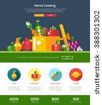 vector flat design fruits and... | Shutterstock .eps vector #388301302