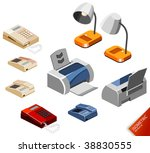 desktop stuff. isometric series.... | Shutterstock .eps vector #38830555