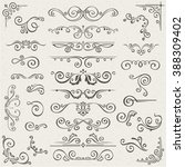 vector set of swirl elements... | Shutterstock .eps vector #388309402
