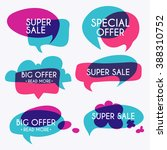 set of sale banners design ... | Shutterstock .eps vector #388310752