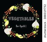 vegetables frame | Shutterstock .eps vector #388319752
