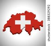 switzerland   3d map and flag   Shutterstock .eps vector #388329292