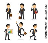 businessman in different poses | Shutterstock . vector #388336432