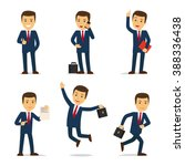 lawyer in different poses | Shutterstock . vector #388336438