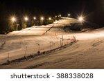Night Skiing On A Snowy Night...
