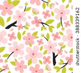 seamless pattern from peach or... | Shutterstock .eps vector #388339162