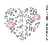floral arrangement  watercolor | Shutterstock . vector #388347508