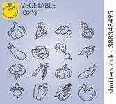 web icons set   vegetables | Shutterstock .eps vector #388348495