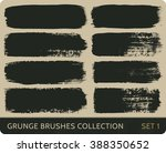 vector grunge brushes... | Shutterstock .eps vector #388350652
