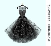 beautiful party dress. black... | Shutterstock .eps vector #388362442