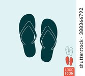 beach slippers icon. beach... | Shutterstock .eps vector #388366792