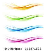 set of abstract color wave... | Shutterstock .eps vector #388371838