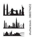 famous landmarks cityscape... | Shutterstock .eps vector #388374652