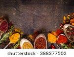 set of various aromatic... | Shutterstock . vector #388377502