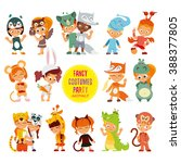 big icon set of cute boys and... | Shutterstock .eps vector #388377805