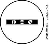 carpenter level symbol | Shutterstock .eps vector #388382716