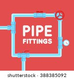pipe fitting vector set.... | Shutterstock .eps vector #388385092