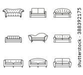 sofa icon line set. modern ... | Shutterstock .eps vector #388392175