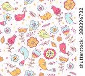 vector hand drawn bright summer ... | Shutterstock .eps vector #388396732