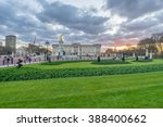 Panorama Of Gardens In Front Of ...