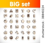 vector web icons | Shutterstock .eps vector #38840224