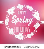 round frame of spring with... | Shutterstock . vector #388403242