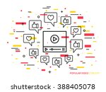 online video player line vector ...   Shutterstock .eps vector #388405078