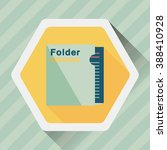 folder flat icon with long... | Shutterstock .eps vector #388410928