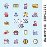 set of business icon