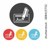 financial money check icon | Shutterstock .eps vector #388415752