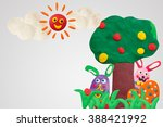 happy easter day  handmade... | Shutterstock . vector #388421992