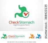 check stomach logo template... | Shutterstock .eps vector #388423135