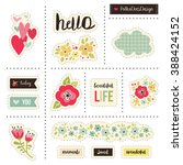 planner stickers. signs ... | Shutterstock .eps vector #388424152