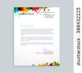 colorful ink splash letterhead | Shutterstock .eps vector #388432225