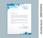 letterhead creative template | Shutterstock .eps vector #388433965