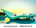 beautiful luxury pool chair in... | Shutterstock . vector #388434142