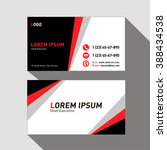 template business cards in... | Shutterstock .eps vector #388434538