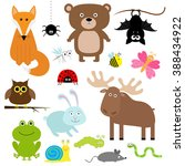 forest animal insect set. bear... | Shutterstock .eps vector #388434922