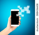 touch screen smartphone in a... | Shutterstock . vector #388436608