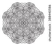 elegance hand drawn round black ... | Shutterstock .eps vector #388440586