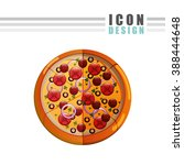 delicious pizza design  | Shutterstock . vector #388444648