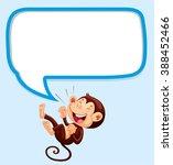 border design with monkey...   Shutterstock .eps vector #388452466