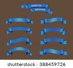 vector ribbon banners.set of... | Shutterstock .eps vector #388459726