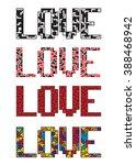 love is here print. t shirt...   Shutterstock .eps vector #388468942