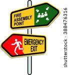 fire assembly point and... | Shutterstock .eps vector #388476316