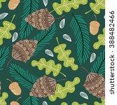 seamless summer nature vector... | Shutterstock .eps vector #388482466