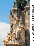 Small photo of Allegorical Detail of Columbus Monument in Barcelona