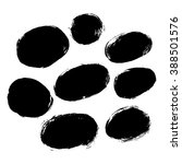 set of 8 grunge black abstract... | Shutterstock .eps vector #388501576