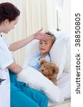 female doctor examining  child... | Shutterstock . vector #38850805