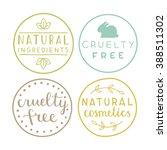 set of natural cosmetics badges....